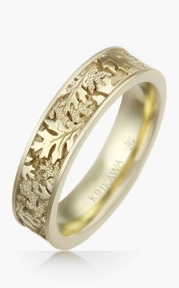 oak-leaf-eternity-wedding-band